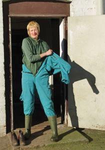 Tierarzt-Kleiderwechsel